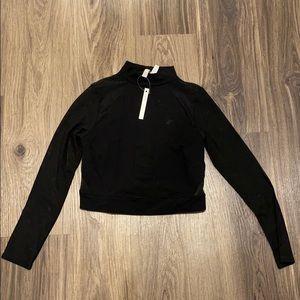 Black Long Sleeve Mesh Top